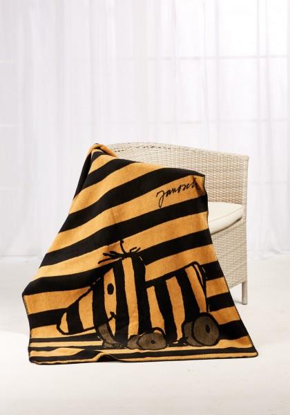 Janosch Kolter Decke Tigerente auf einem Stuhl