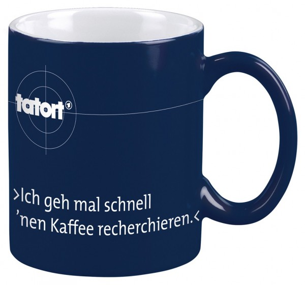 """Tatort-Tasse """"Recherchieren"""""""