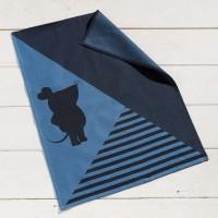 Maus Geschirrtuch 10 Schwarz Blau