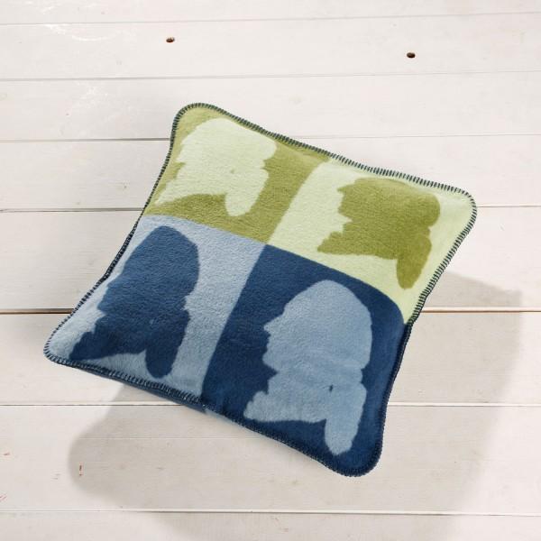 Kolter Kuschel Kissen Goethe gruen blau