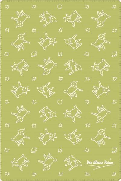 Kuscheldecke Der Kleine Prinz Schafe gruen-beige