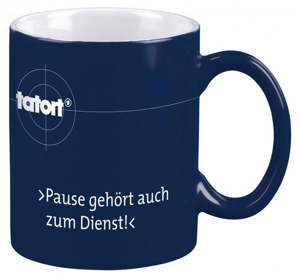"""Tatort-Tasse """"Pause"""""""