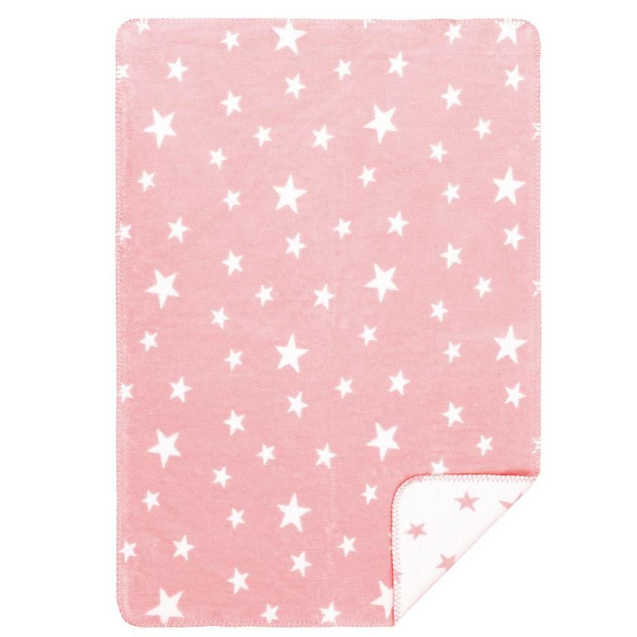 Babydecke-Sternchen-rosa