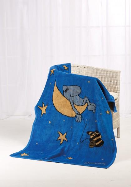Janosch Kolter Decke Guenter Kastenfrosch auf einem Stuhl