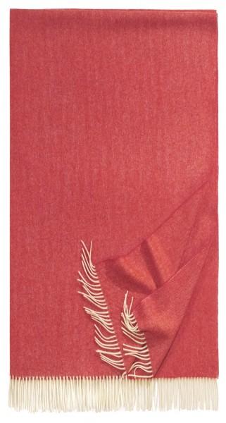 Schal aus Lammwolle rot