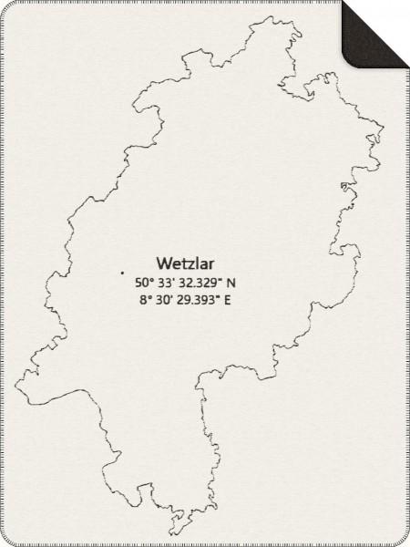 Staedtedecke mit den Koordinaten von Wetzlar