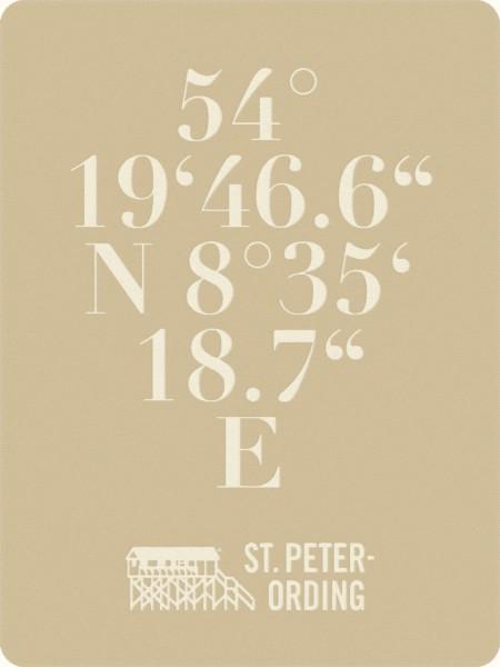Kuscheldecke mit den Koordinaten von St. Peter-Ording